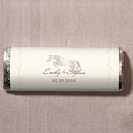 Equestrian Love Chocolate Bar Wedding Favor