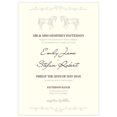 Equestrian Love Wedding Invitation