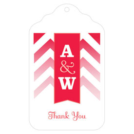 Merchandise Tag with Chevron and Monogram