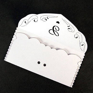 Laser Expressions Will You with Monogram Paper Caddy