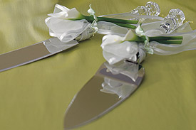 Bridal Beauty Calla Lily Wedding Reception Cake Serving Set 