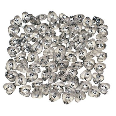 3-D Heart Reception Accessory Confetti with Rhinestone