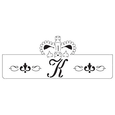 Laser Expressions King Crown Decorative Wedding Monogram Wrap