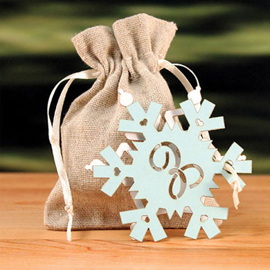 Laser Expressions Snowflake Monogram Tag