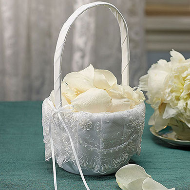 Beverly Clark Venetian Elegance Collection Flower Girl Basket