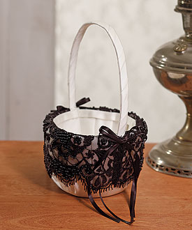 Beverly Clark Gala Collection Flower Girl Basket