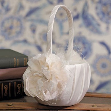 Beverly Clark La Fleur Collection Flower Girl Basket