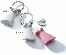 Dress Key Chain Wedding Gift