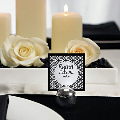 Classic Round Wedding Reception Place Card Holders