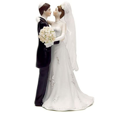 Traditional Jewish Bride and Groom Wedding Cake topper