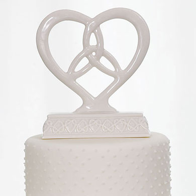 Heart Trinity Knot Wedding Cake Topper
