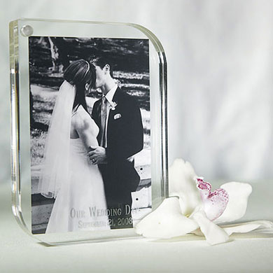 Contemporary Acrylic Wedding Favor Photo Frame