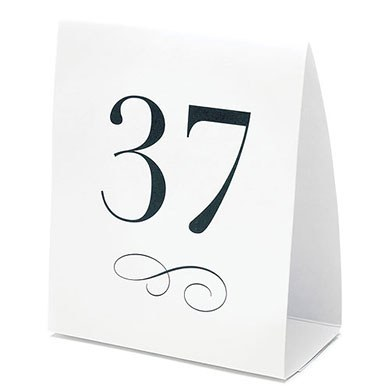 Wedding Reception Table Number Tent Style Card