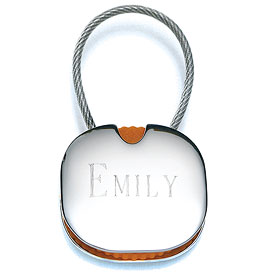 Personalized Key Fob Wedding Gift
