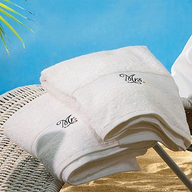Mr. and Mrs. Wedding Gift Towels