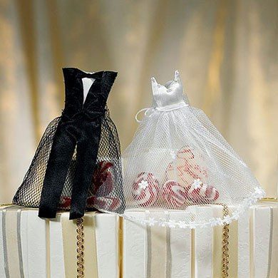 Bride and Groom Candy Wedding Favor Bags