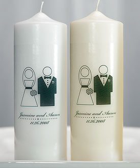Bride and Groom Wedding Ceremony Unity Candle