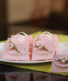 Blush Pink Wedding Favor Boxes