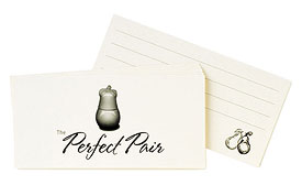 Perfect Pair Wedding Wish Guestbook Cards