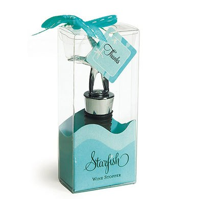 Starfish Wedding Wine Bottle Stopper Favor