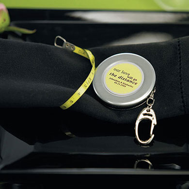 measuring tape keychain wedding favor