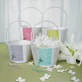 Butterfly Dreams Wedding Flower Girl Basket