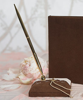 Romantic Vintage Western Wedding Guest book Pen Set