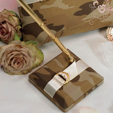 Camouflage Wedding Reception Pen Set