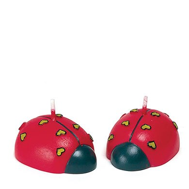 Cute Love Bugs Wedding Favor Candles