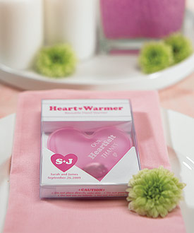 heart hand warmer wedding favor