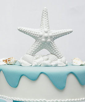 Starfish Wedding Cake Topper