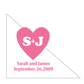 Heart Corner Wedding Favor Stickers