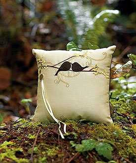 love bird ring ceremony pillow accessories