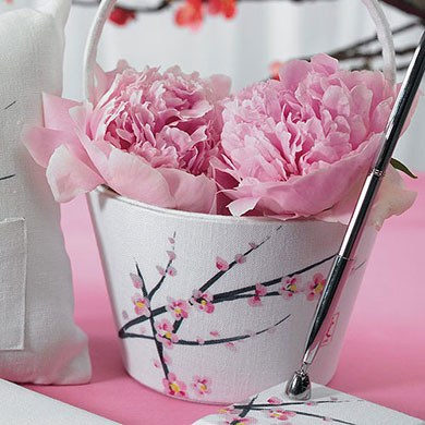 Cherry Blossom Wedding Flower Girl Basket
