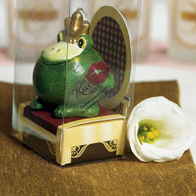 Novelty Frog Prince Wedding Favor Candle in Gift Packaging