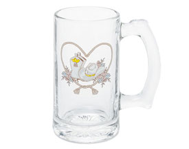 Western Print Plain Beer Wedding Stein