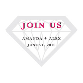 Personalized Diamond Wedding Sticker Accessory