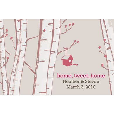 Home Tweet Home Wedding Favor Cards