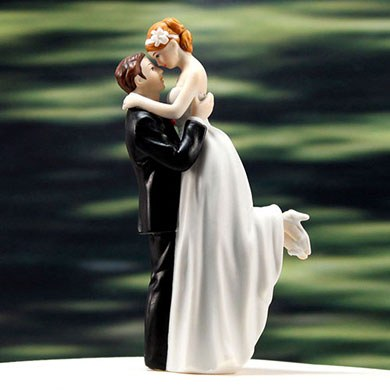 True Romance Couple Wedding Cake topper