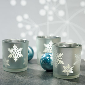 Snowflake Wedding Candle Holders