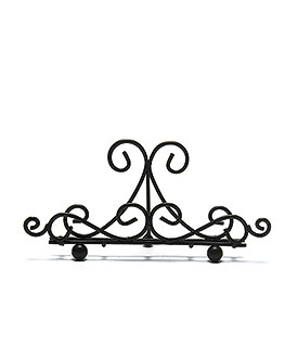 Low Ornamental Wire Stationery Holders in Matte Black