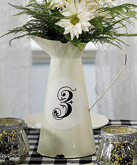Decorative Enamel Pitcher