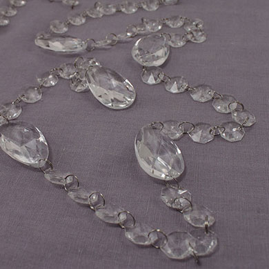 Acrylic Crystal Garland with Prism Drops