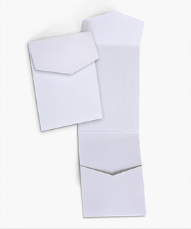 5 x 7 Signature Portrait Wedding Invitation Pocket Folds