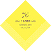 70 Years Printed Napkins