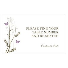 Romantic Butterfly Table Sign Card