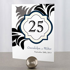 Lavish Monogram Table Number