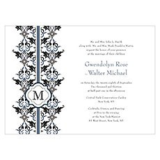 Lavish Monogram Invitation