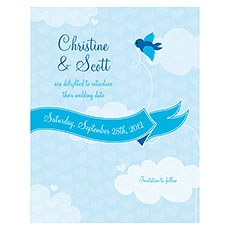 A Little Bird Told Me Save The Date Card