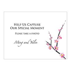 Cherry Blossom Camera Table Sign